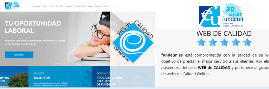 Presentamos Fundeun.es la nueva adhesión a Calidad Online