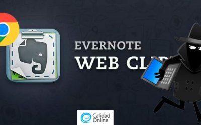 Fallo crítico en la extensión de Evernote para Chrome