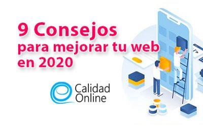 9 consejos esenciales para mejorar tu web para 2020