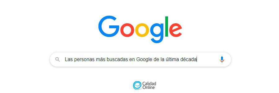 Las personas más buscadas en Google de la última década